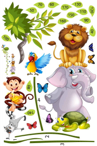 Sticker Grafic de crestere cu animale si fluturi - 250x170 cm [2]