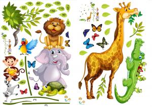 Sticker Grafic de crestere cu animale si fluturi - 250x170 cm [1]