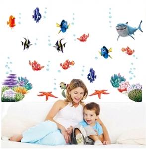 Sticker pentru camere bebelusi - Pestisori colorati0