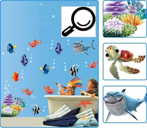 Sticker pentru camere bebelusi - Pestisori colorati4