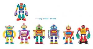 Sticker pentru copii - Robotei spatiali6