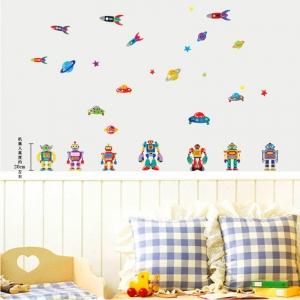 Sticker pentru copii - Robotei spatiali0