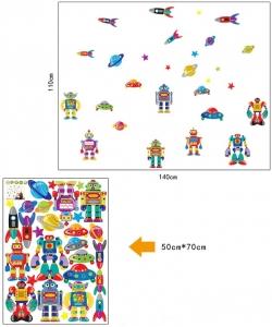 Sticker pentru copii - Robotei spatiali5