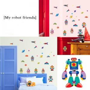 Sticker pentru copii - Robotei spatiali4