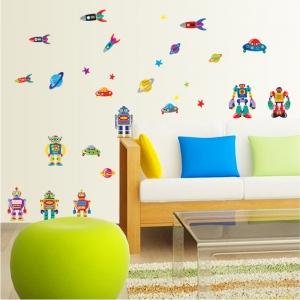 Sticker pentru copii - Robotei spatiali1