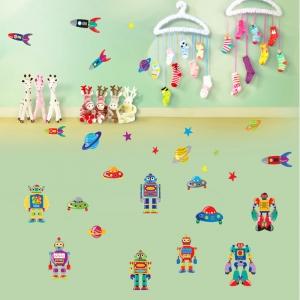 Sticker pentru copii - Robotei spatiali3