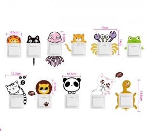 Sticker pentru intrerupator sau priza - Animale diverse1