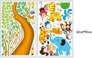 Sticker perete copii - Copac cu elefant stropitor6