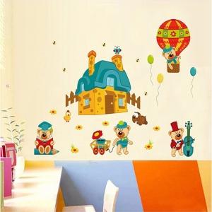 Sticker perete copii - Ursuleti in actiune4