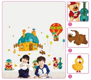 Sticker perete copii - Ursuleti in actiune5