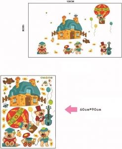 Sticker perete copii - Ursuleti in actiune3