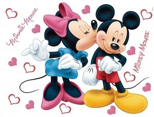 Sticker Mickey Mouse si Minnie - 65x85cm - DK8820