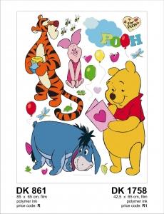 Sticker Winnie the Pooh si Prietenii - 65x85cm - DK8611