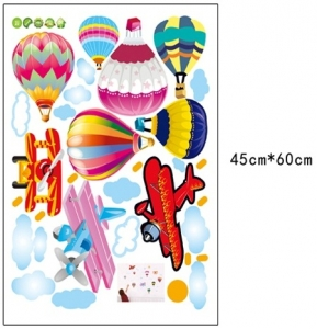 Sticker perete pentru camera copilului - Baloane si avioane6