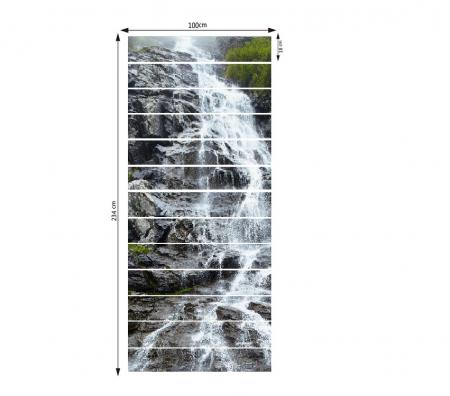 Sticker scari - Cascada pe stanca - 13 trepte de 18x100 cm3