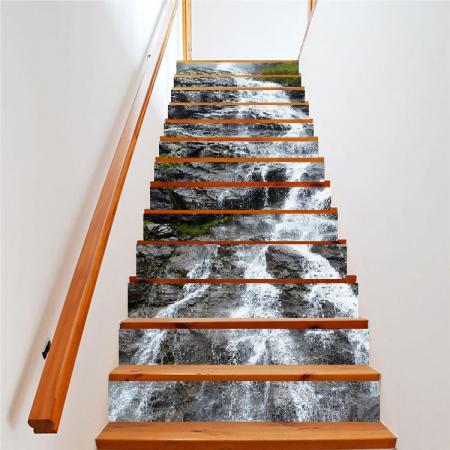 Sticker scari - Cascada pe stanca - 13 trepte de 18x100 cm1