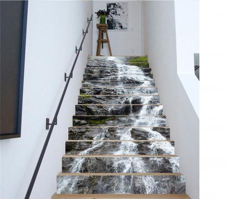 Sticker scari - Cascada pe stanca - 13 trepte de 18x100 cm0