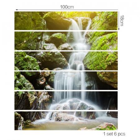 Sticker Scari - Cascada si Muschi Verde - 6 folii de 18x100 cm2