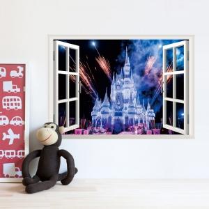 Stickere 3D pentru fete- Castel cu artificii0