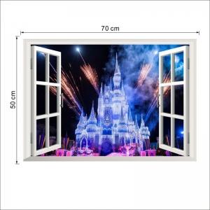 Stickere 3D pentru fete- Castel cu artificii3