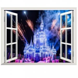 Stickere 3D pentru fete- Castel cu artificii1