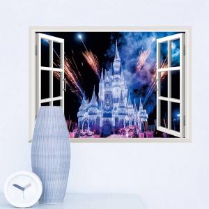 Stickere 3D pentru fete- Castel cu artificii4