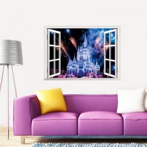 Stickere 3D pentru fete- Castel cu artificii2