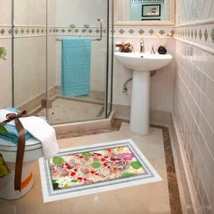 Stickere 3D pentru podea - Pesti si pietre - 60x90 cm4
