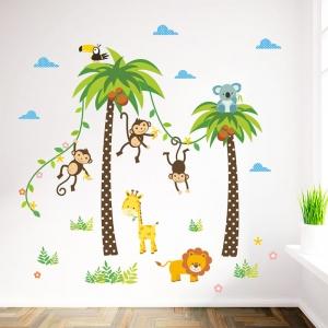 Stickere camere bebelusi - Palmieri si animale1