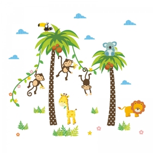Stickere camere bebelusi - Palmieri si animale4