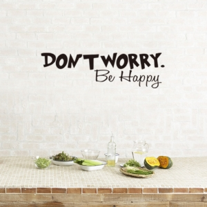 Stickere citate motivationale - Don't worry, be happy0