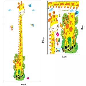 Stickere copii - Grafic de crestere girafa vesela - masurator inaltime6