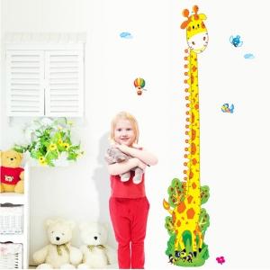 Stickere copii - Grafic de crestere girafa vesela - masurator inaltime2