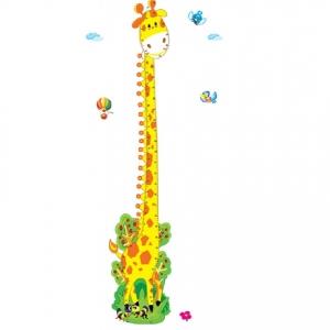 Stickere copii - Grafic de crestere girafa vesela - masurator inaltime7