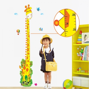 Stickere copii - Grafic de crestere girafa vesela - masurator inaltime4