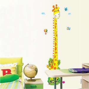 Stickere copii - Grafic de crestere girafa vesela - masurator inaltime3