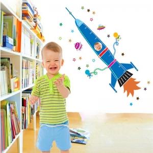 Stickere copii - Grafic de crestere Racheta spatiala - masurator inaltime7