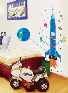 Stickere copii - Grafic de crestere Racheta spatiala - masurator inaltime4