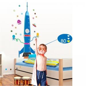 Stickere copii - Grafic de crestere Racheta spatiala - masurator inaltime1