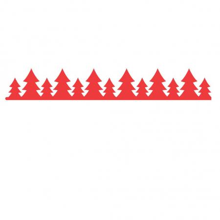 Stickere cu model repetitiv de Craciun - aprox. 5x100 cm0
