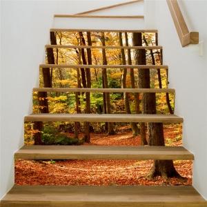 Stickere decorativ scari - Padure tomnatica - 6 folii de 18x100 cm [2]