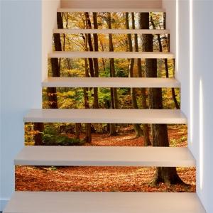 Stickere decorativ scari - Padure tomnatica - 6 folii de 18x100 cm [1]