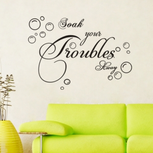 Stickere decorative baie - Soak your troubles away2