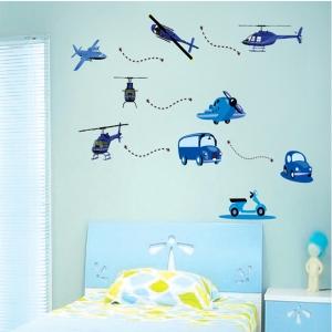 Stickere decorative pentru baieti - Avioane in zbor4
