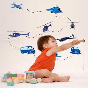 Stickere decorative pentru baieti - Avioane in zbor1