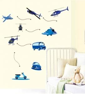 Stickere decorative pentru baieti - Avioane in zbor2