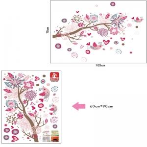 Stickere decorative - Ramura cu flori roz5