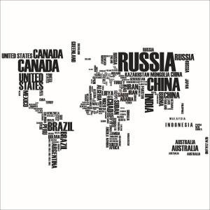 Stickere Harta Lumii - Nume tari [6]