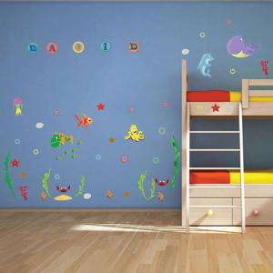 Stickere pentru camere bebelusi - Lumea marii - Nume personalizat din litere1
