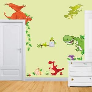 Stickere pentru copii  - Dragoni jucausi0
